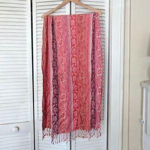 Boho floral scarf
